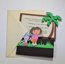 jingvitations print and cut silhouette cameo handmade dora the