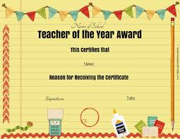Participation Certificate Templates Free Download Free Teacher Awards