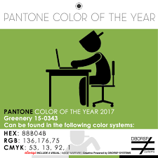 Color Of Year 2017 by Inspired By Color Greenery 15 0343 Pantone Color Of The Year 2017