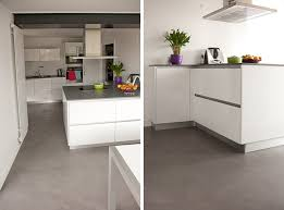 sol cuisine béton ciré extension cuisine beton cire nantes la baule atelier design