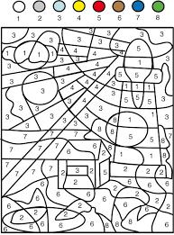 Jeu de coloriage numéroté  chiffres et mer n°1  Tête à modeler
