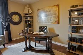 Grey Wooden Desk Rustic Ovel Brown Teak Wood Desk Combined With Black Leather