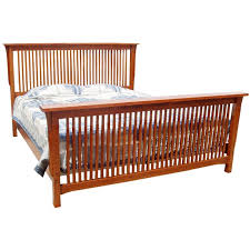 Spindle Bed Frame The Trend Manor Mission Spindle Bed Is Made In America From Solid Oak