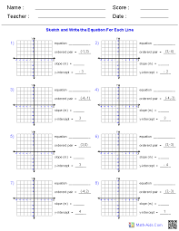 slope of a line worksheets brilliant ideas of slope and y intercept worksheets for service