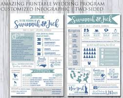 customized wedding programs wedding program etsy