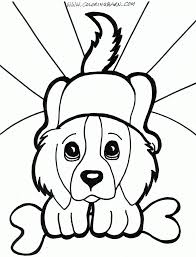 hard puppy coloring pages home cute page for kids animal baby