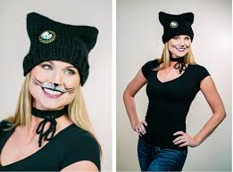cat in the hat halloween halloween inspired cat ear beanie knitting pattern and makeup tutorial
