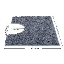 non slip microfiber bathroom contour rugs combo set of 2 soft