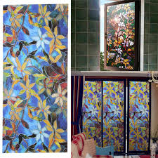 mini stained glass ls ls4g 45x100cm magnolia privacy window film decorative stained glass