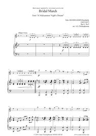 Wedding Dress Chord Op 61 Midsummer Nights Dream Bridal March Violin Sheet Music By