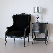 Velvet Wingback Chair Black French Wingback Chair By Out There Interiors