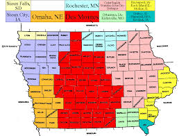 Map Of Des Moines Iowa Tv Market Maps