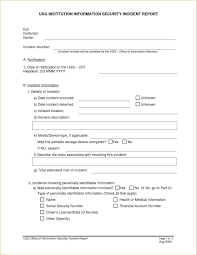 incident report register template incident report form shipping template free purchase order