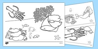 fish colouring sheets tiddler early eyfs