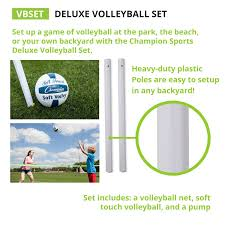 amazon com champion sports backyard u0026 beach volleyball outdoor
