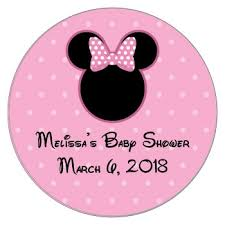 minnie mouse baby shower mouse baby shower sticker