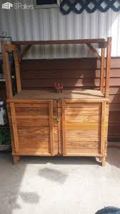 garden outdoor cabinet out of pallet wood u2022 1001 pallets