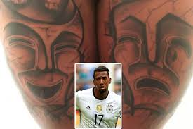 bayern munich and germany defender jerome boateng shows off his