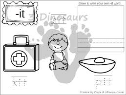 new cvc word family coloring pages short i vowel 3 dinosaurs