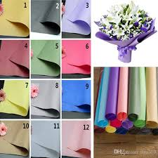 wholesale gift wrap paper solid color flower packing paper kraft papers for gift bouquet