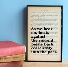 great gatsby quote the great gatsby framed quote great