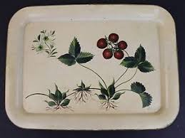 painted serving platters mid century modern mystery artist signed painted metal