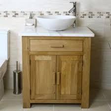 handmade solid oak bathroom vanity unit washstand rustic
