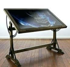 Drafting Table With Light Drafting Table Desk Kresofineart