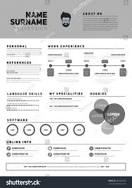 Minimalist Resume Resume Minimalist Cv Resume Template Simple Stock Vector 493903228