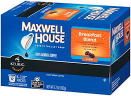 maxwell house breakfast blend coffee k cup pods 12 count