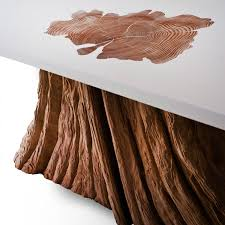 Cedar Table Top by Bloom Coffee Table A Salvaged Cedar Tree Base Is Fused With A