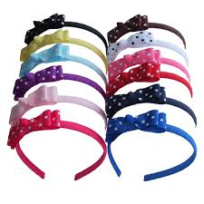 plastic headbands new dots hairband hair bow hair hoop weave plastic headband baby