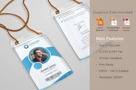 id card graphic design corporate id card templates card templates creative market
