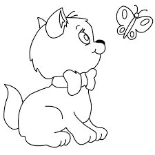 kitten coloring pages butterfly coloringstar
