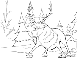 baby reindeer from frozen coloring pages