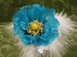 turquoise corsage floral turquoise poppy flowers corsage bracelet and boutonniere