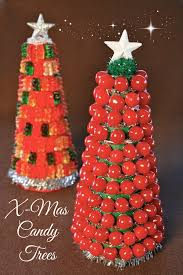 candy christmas tree food craft how to build a candy christmas tree