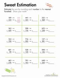 rounding sweet estimation worksheet education com