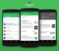 android app design evernote for android gets a material design update