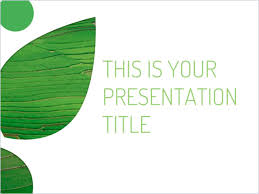 Free Template For Powerpoint Or Google Slides Environmental Theme Powerpoint Theme