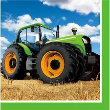 Anniversaire Tracteur by 16 Serviettes Big Tracteur Pour L U0027anniversaire De Votre Enfant