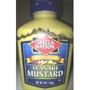 wasabi mustard dietz watson wasabi mustard calories nutrition analysis more