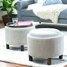 Ottoman Circle Leather Ottomans Jessicastable Co