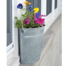 galvanized bucket wall planter gardeners edge