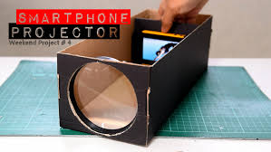 build a smartphone projector with a shoebox youtube