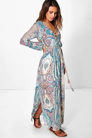 petite polly paisley cage back maxi dress boohoo