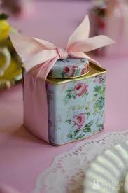 party favours tea party favors vintage tea party tea tins with cookies inside as