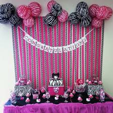 zebra baby shower pink zebra print baby shower decorations 11765