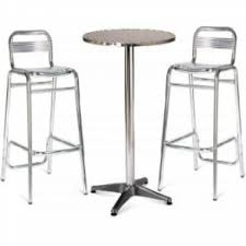 Aluminium Bar Table Bar Table And Stool Set Amerihome Loft Style Metal Bar Table Set
