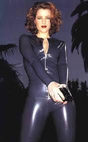 Gillian Anderson Latex - gillian anderson in blue latex catsuit 3 gillian anderson latex